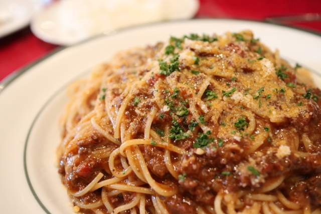 バッカのミートソーススパゲティ
