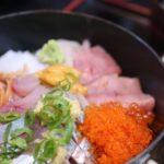 大和寿司の海鮮丼とイワシフライ