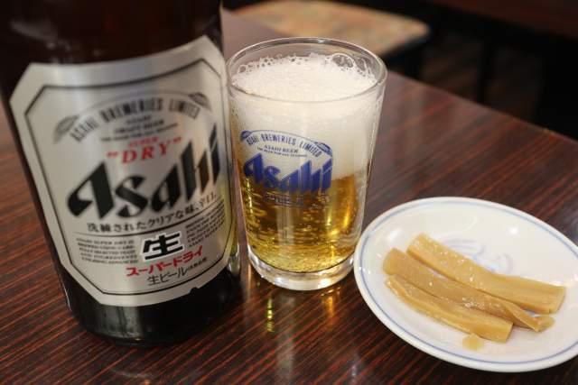 康楽の瓶ビール