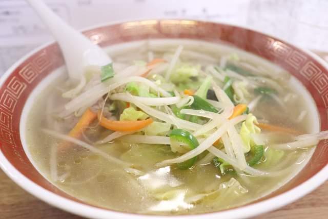 栄龍のタンメンで野菜補給