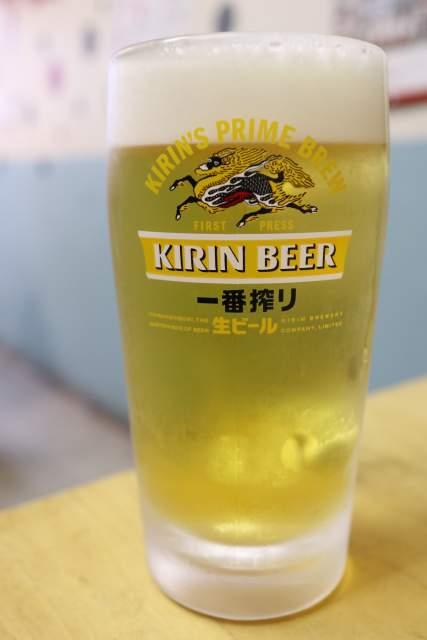 あずまやの生ビール