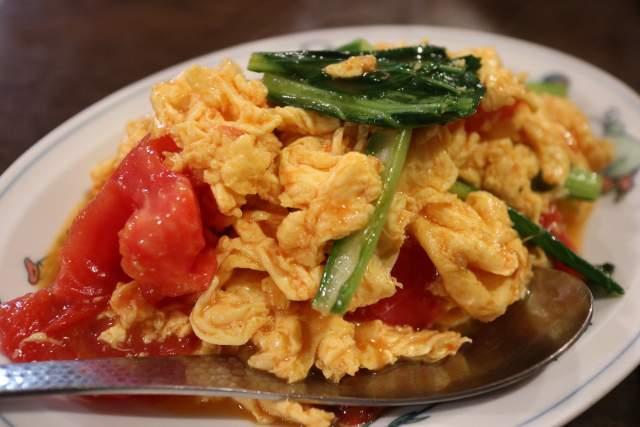 皇庭餃子房のトマト卵炒め