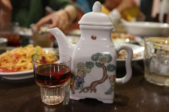 皇庭餃子房の陳年十二年紹興酒