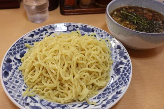 盛華の醤油つけ麺