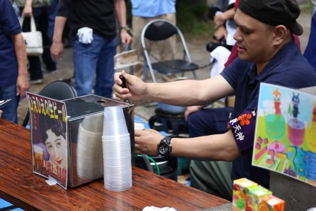 菅原神社弁天まつりのビール