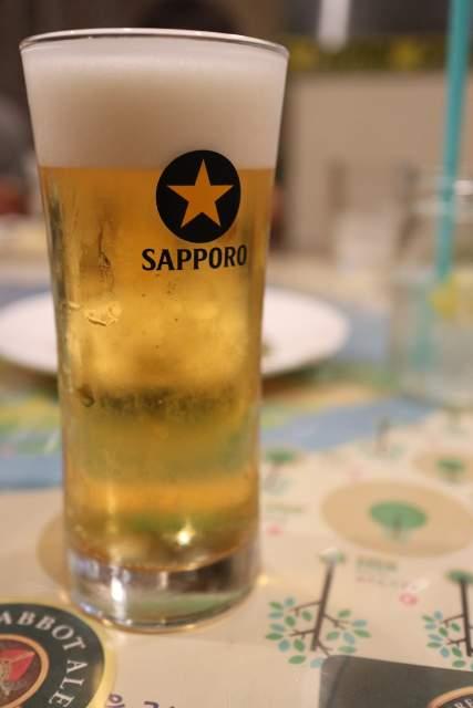 海晴亭のサッポロビール