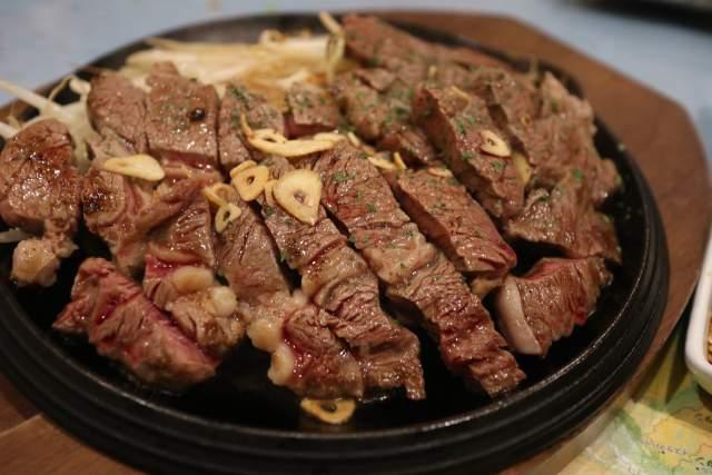 海晴亭のUS牛ロースステーキ