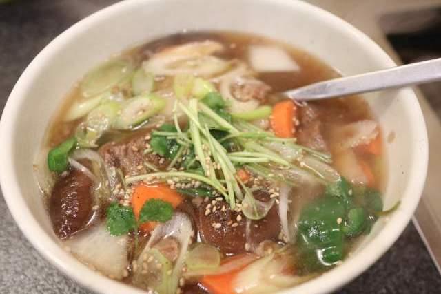 くい亭の温麺