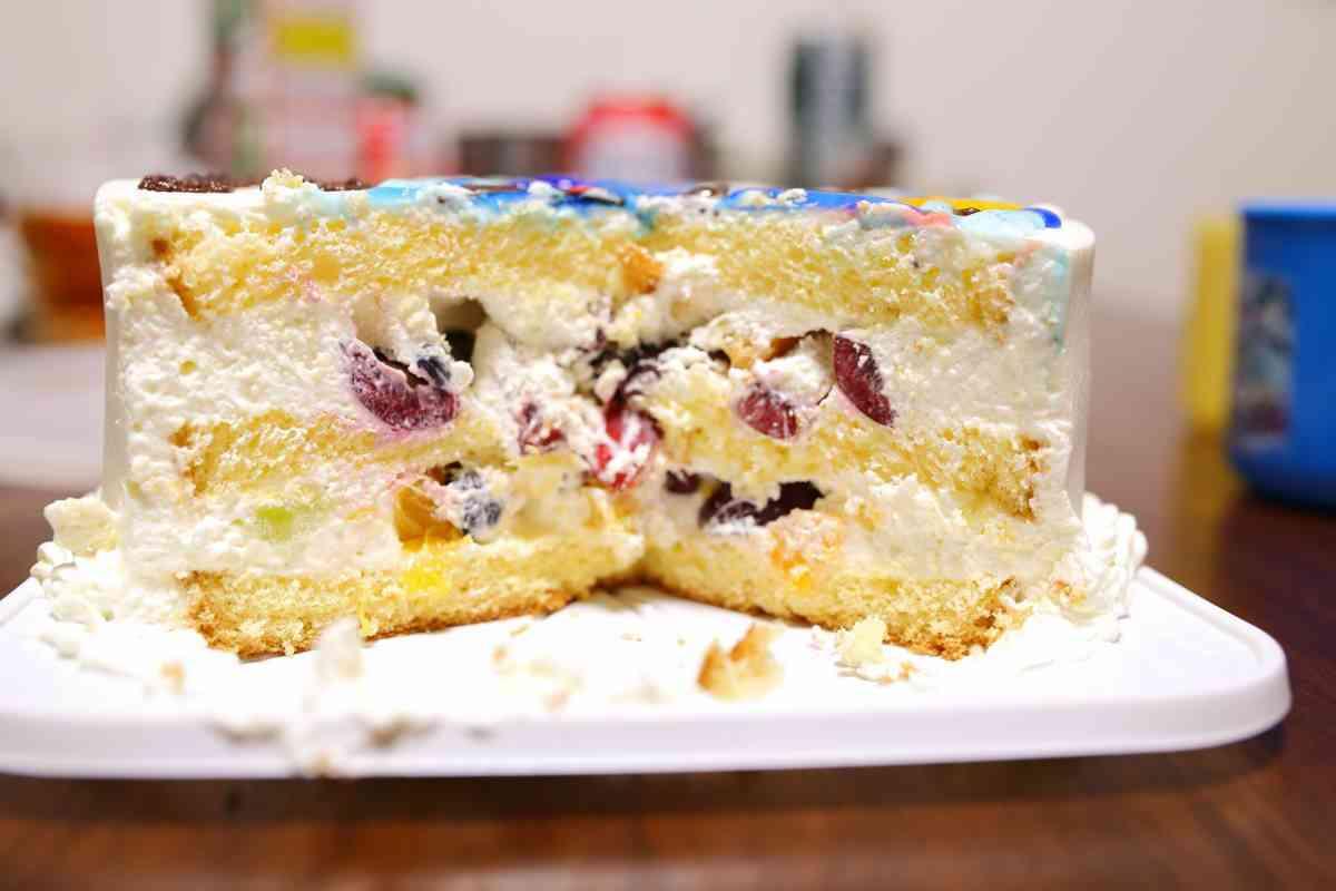 チェシャのケーキ断面