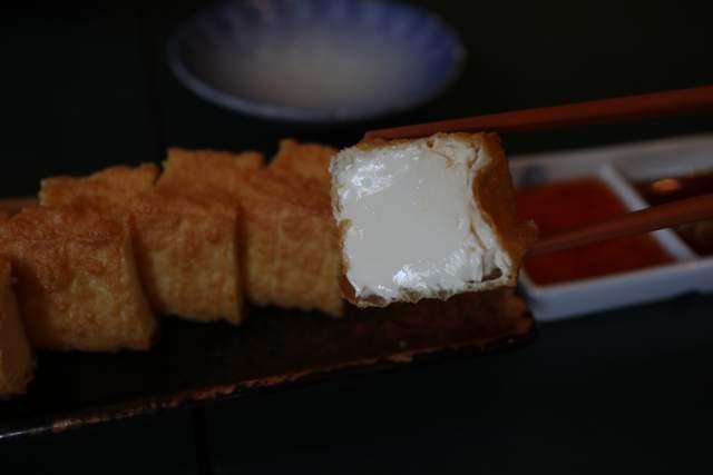 ジャズケイリンの参豆腐の断面
