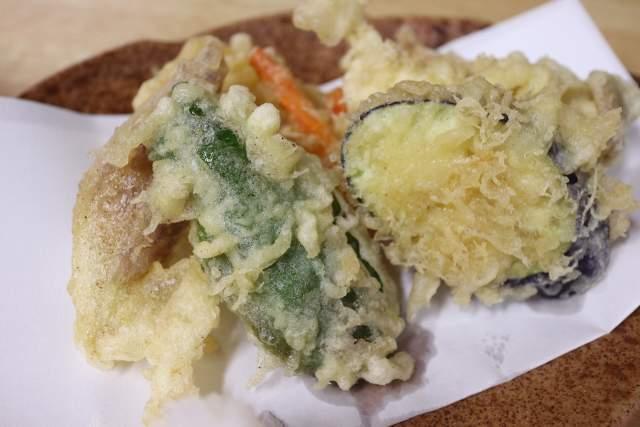 やぶそばの野菜天ぷら