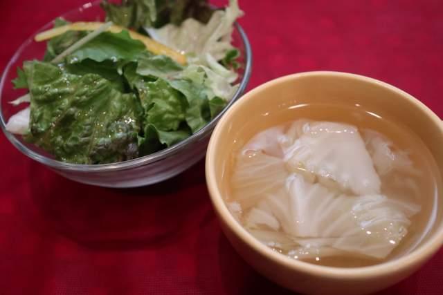 バッカのサラダとスープ