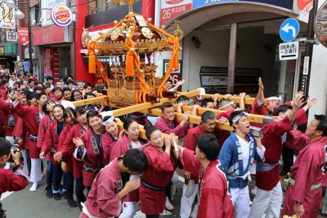 菅原神社例大祭のお神輿4