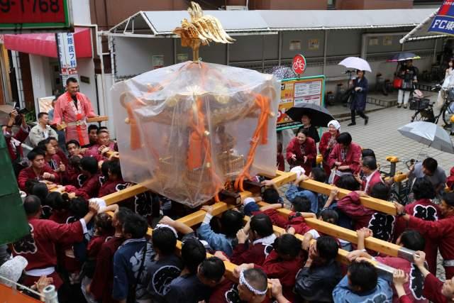 菅原神社例大祭のお神輿7