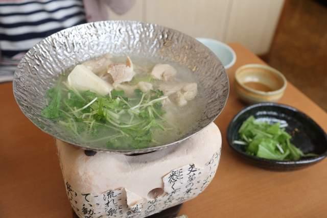 和食眞太の鶏もも肉水炊き