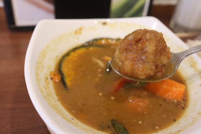プルポのスープカレーの唐揚げ