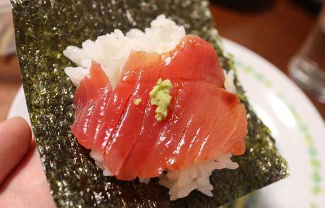 長谷川の中トロで手巻き寿司