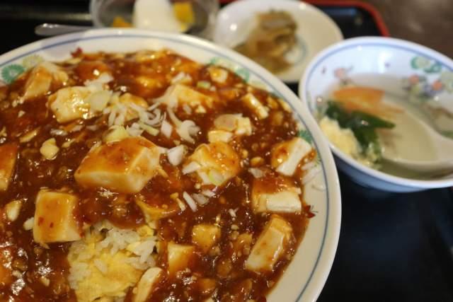 皇庭餃子房の麻婆豆腐炒飯ランチ