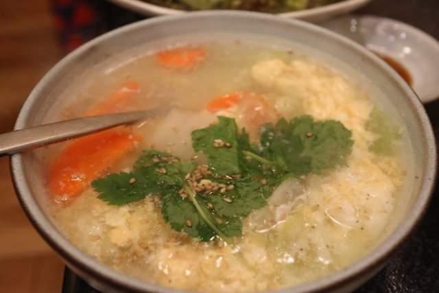くい亭の玉子スープ