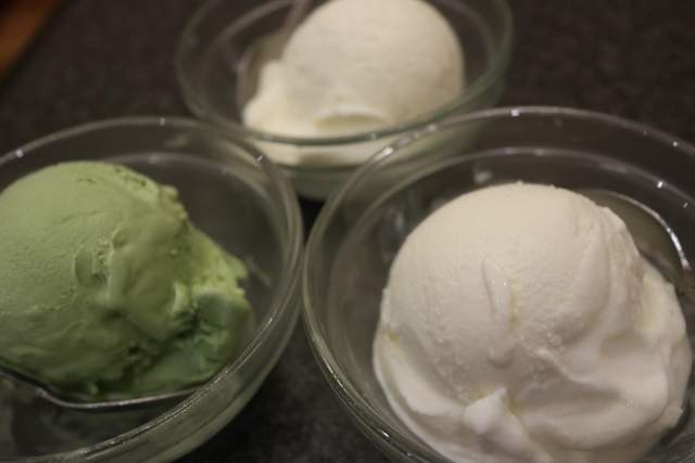 くい亭のアイスクリーム