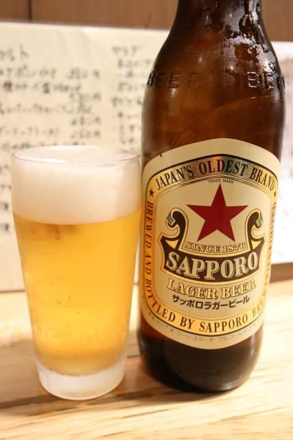 やきとんまるじの瓶ビール