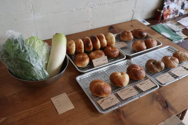ウララカの野菜とベーグル
