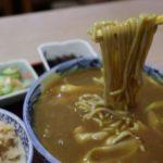 寿々木家のカレー蕎麦と鮭の炊き込みご飯