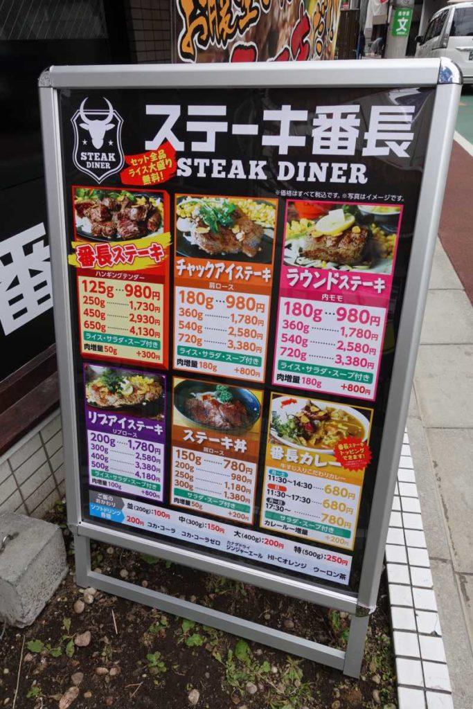 ステーキ番長の看板