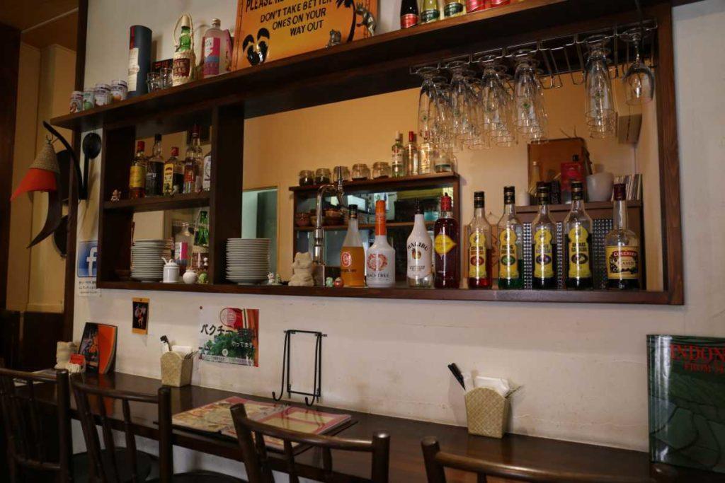 ムンランギットカフェのカウンター