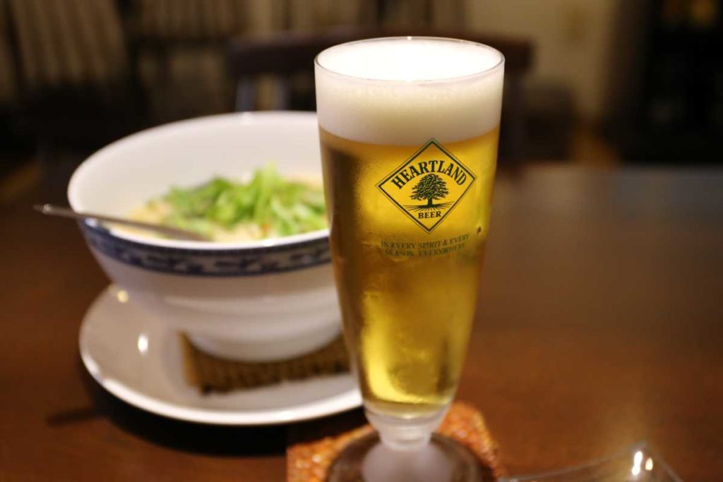 ムンランギットカフェのランチビール