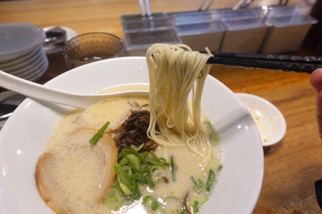 一風堂の麺