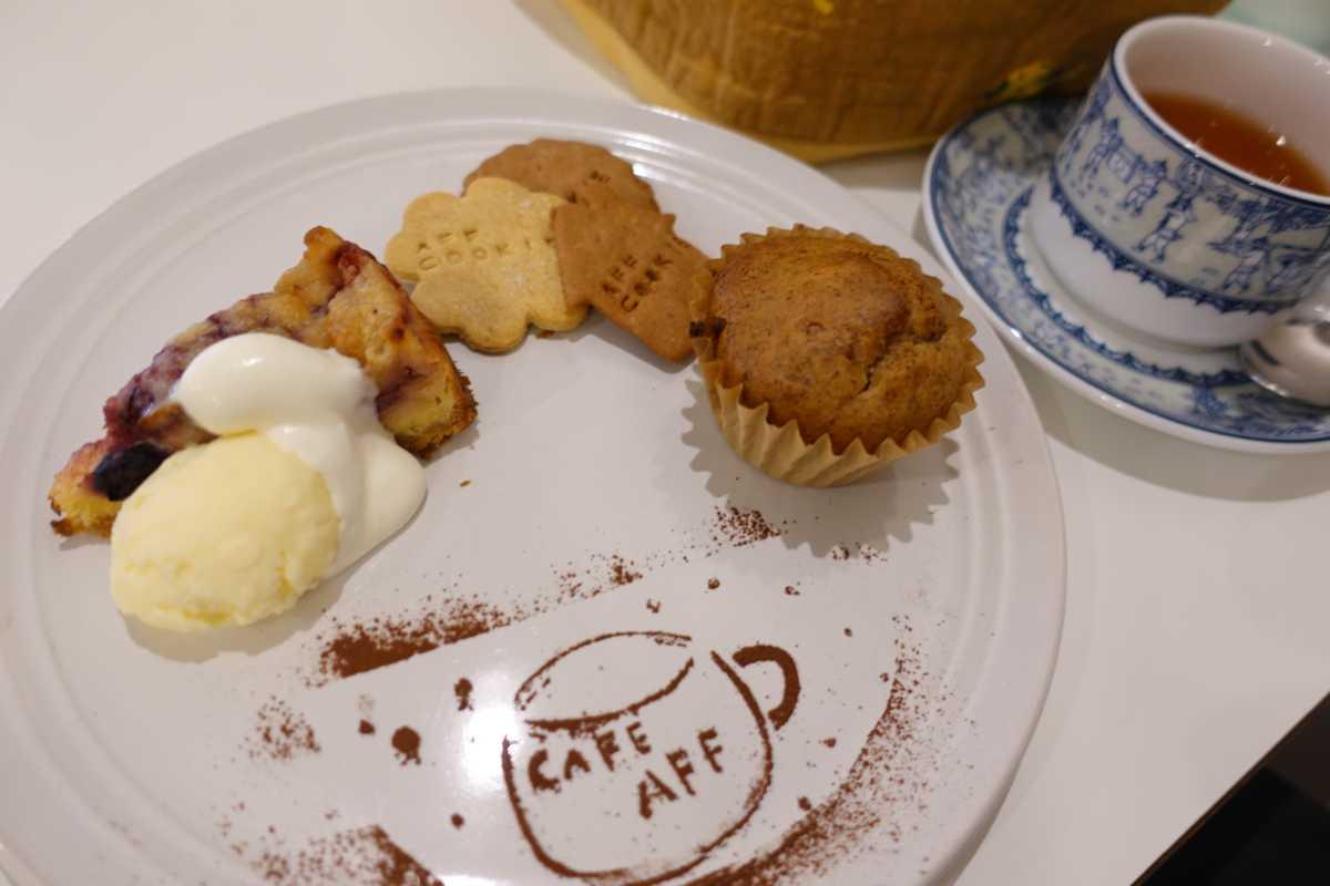 カフェ AFF(エーエフツー)のお菓子のスペシャルPLATE