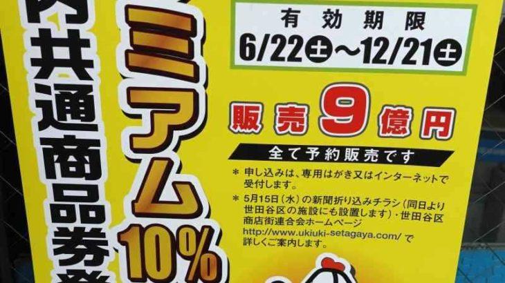 プレミアム10%付き世田谷区内共通商品券ポスター