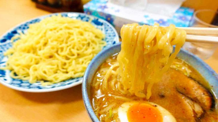 盛華らーめんのツルっと食べられる味噌つけ麺@明大前
