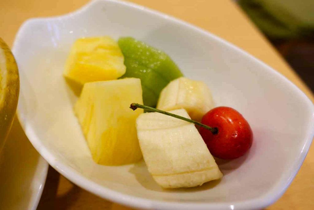 かき氷のフルーツ