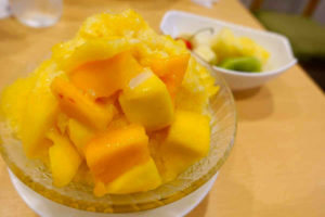 パーラーシシドのマンゴーかき氷
