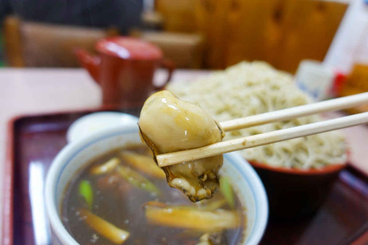 寿々木家の牡蠣せいろ蕎麦