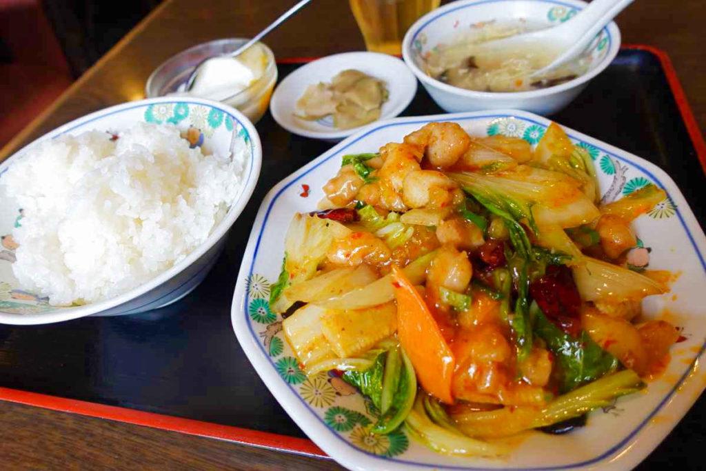 鶏肉白菜四川風炒め