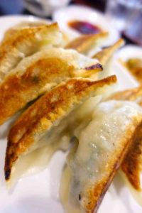 家宴のニラ餃子定食