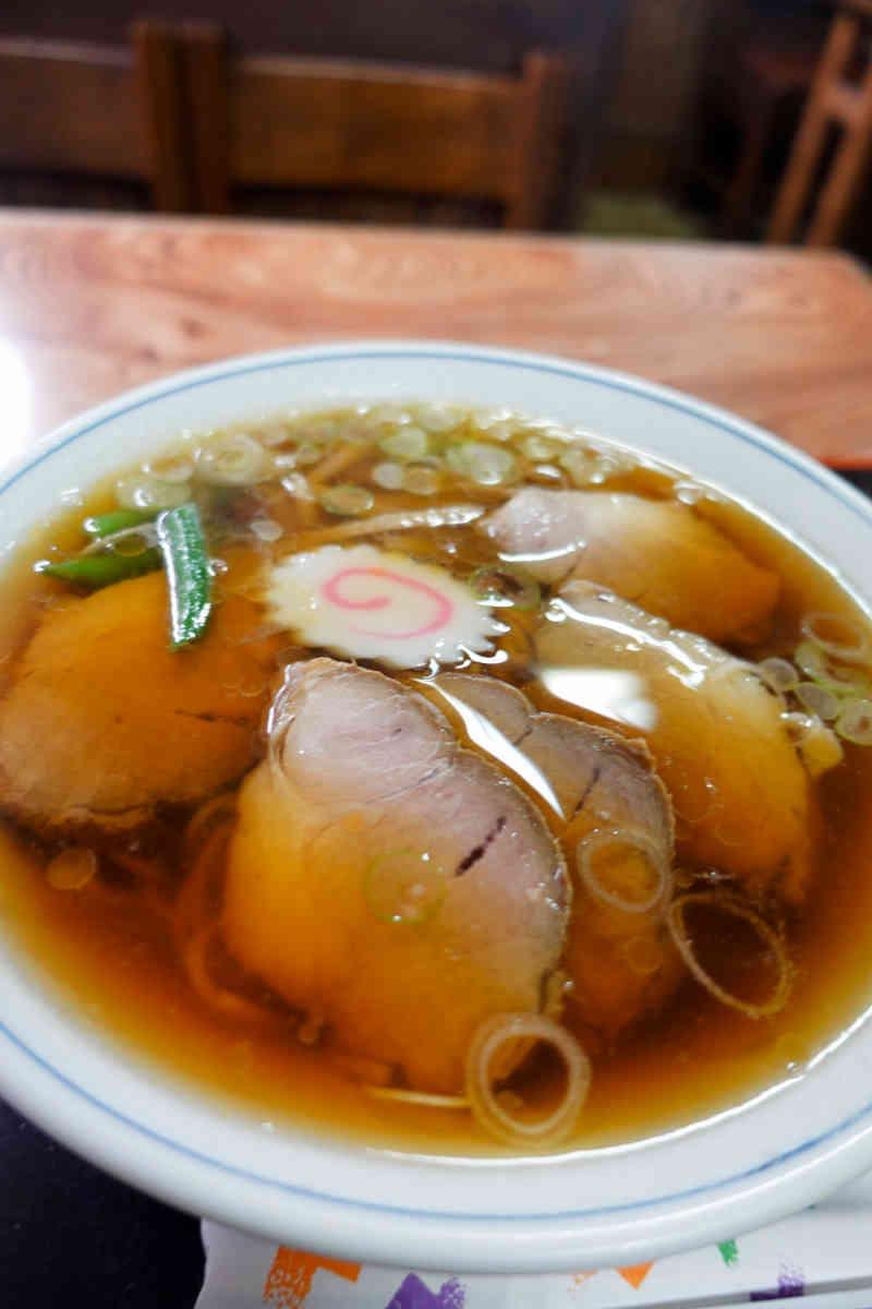 松月庵のチャーシュー麺