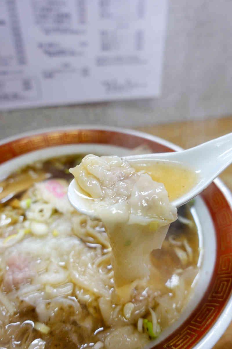 栄龍のとろ~りワンタン麺