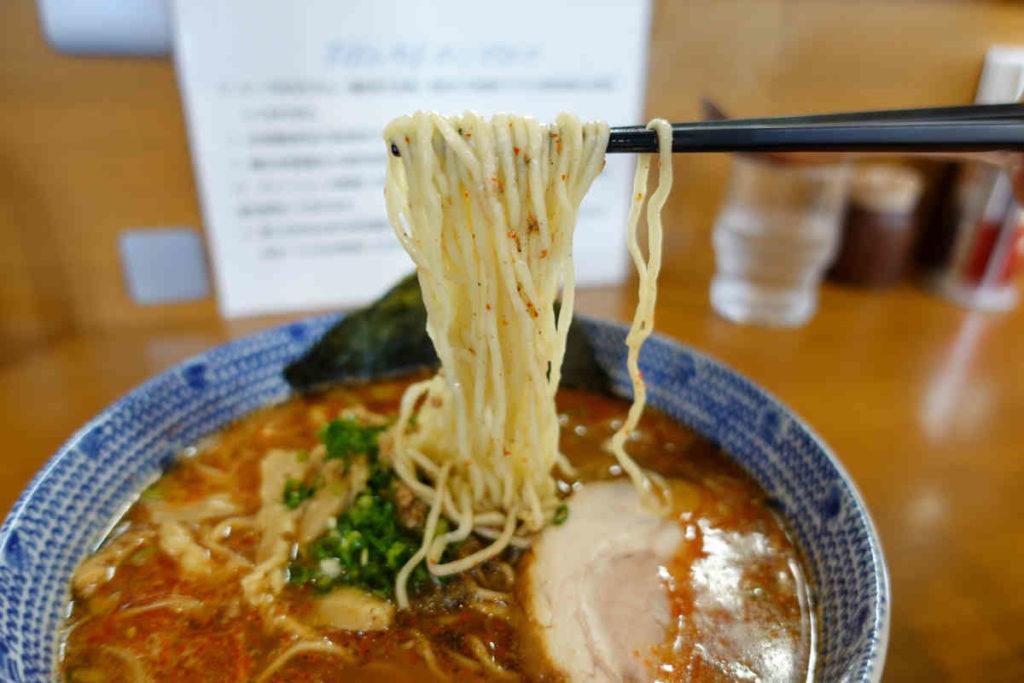 ばんやの麺with唐辛子