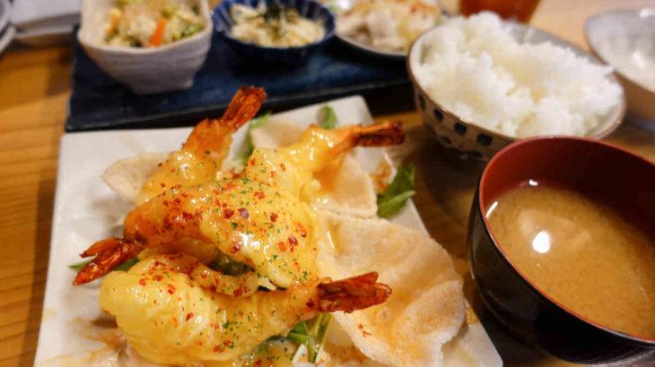 フジタカ食堂のエビマヨ定食ランチ