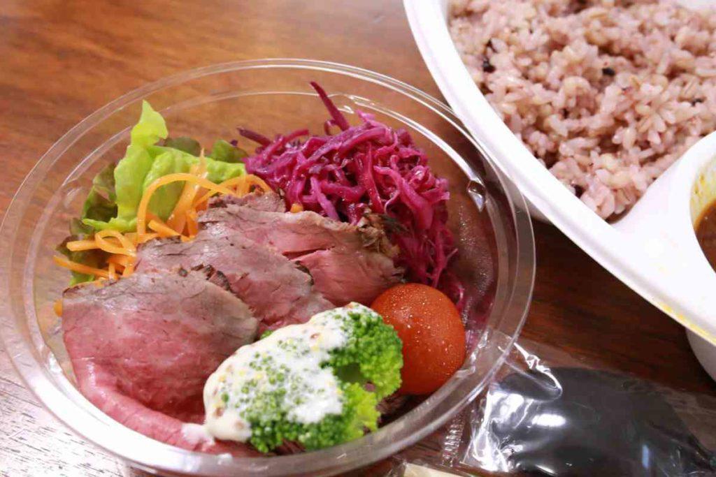 ローストビーフと野菜の副菜
