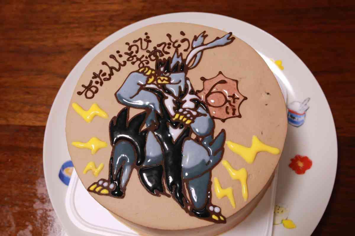 チェシャの特注チョコレートキャラクターケーキ