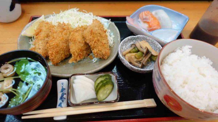大和寿司のアジフライ定食