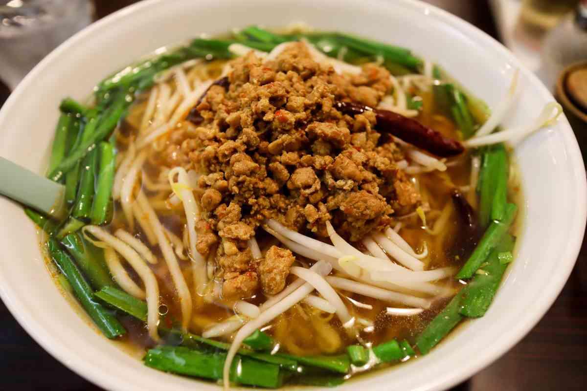 家宴の台湾ラーメンは適度なピリ辛で食べやすい