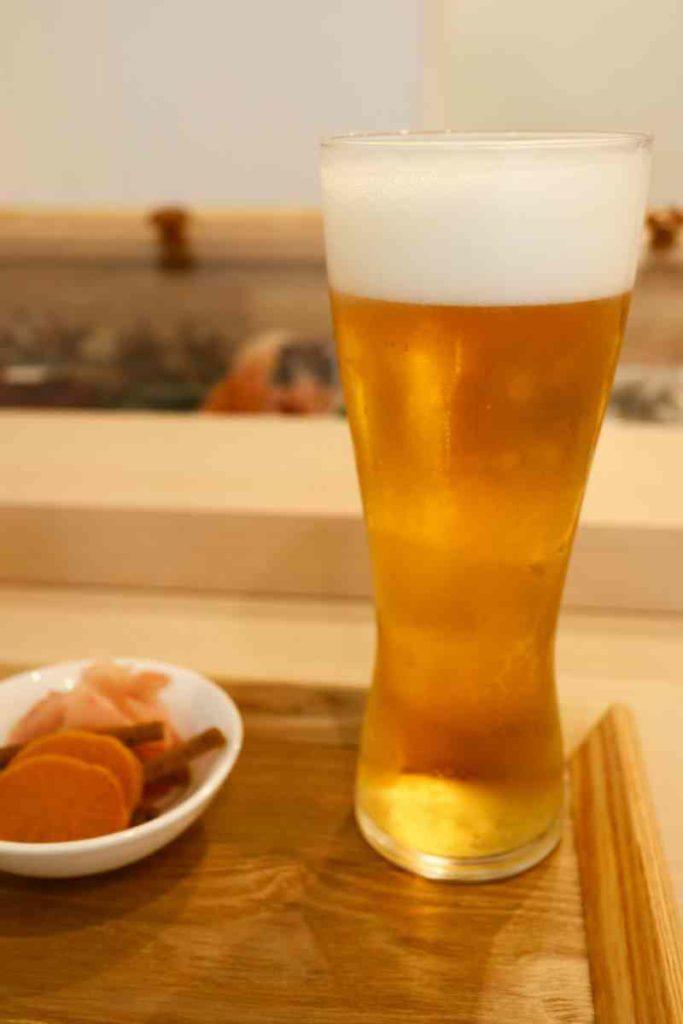 生ビール 中 450円(税別)