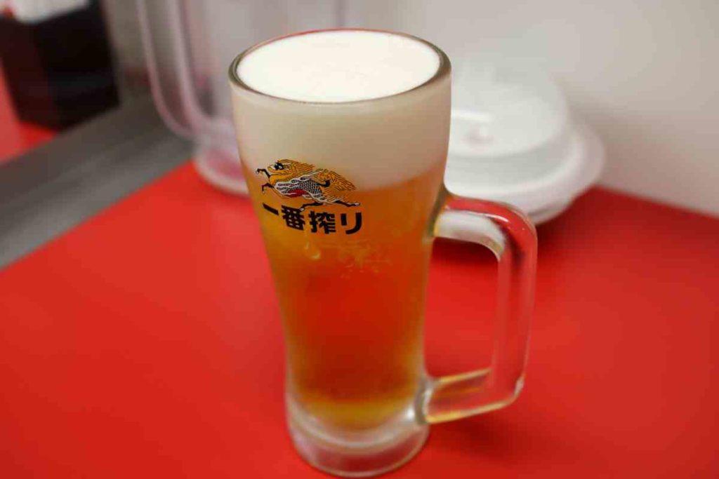 生ビール(中) 540円