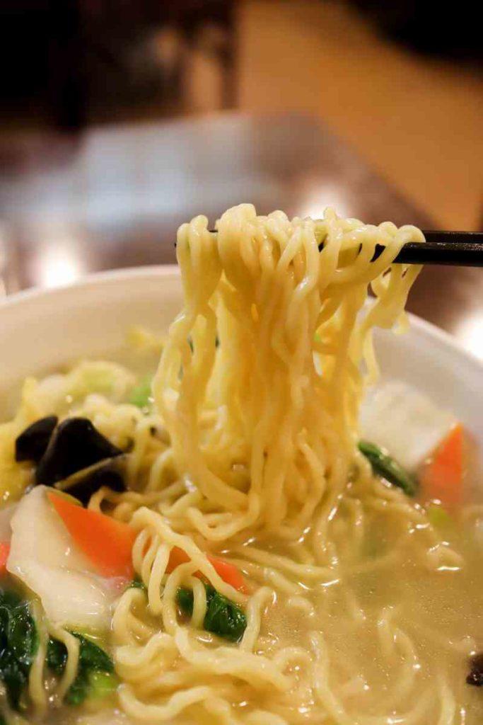アサリ野菜タンメンの麺